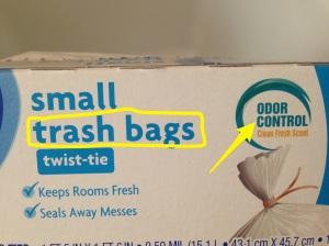 Bolsas para la basura perfumadas